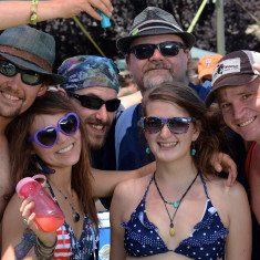 Kayte Udow of San Francisco and friends at the High Sierra Music Festival. Tim Parsons / Tahoe Onstage
