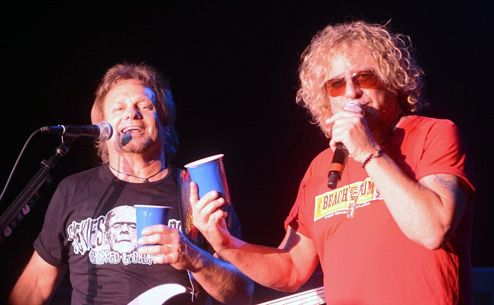 Sammy Hagar and Michael Anthony invite everyone to the Cabo Wabo Cantina to listen to the new album. Tahoe Onstage/ Tim Parsons