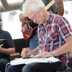 Lap slide guitarist Tommy Stiles. Photo by Tim Parsons / Tahoe Onstage