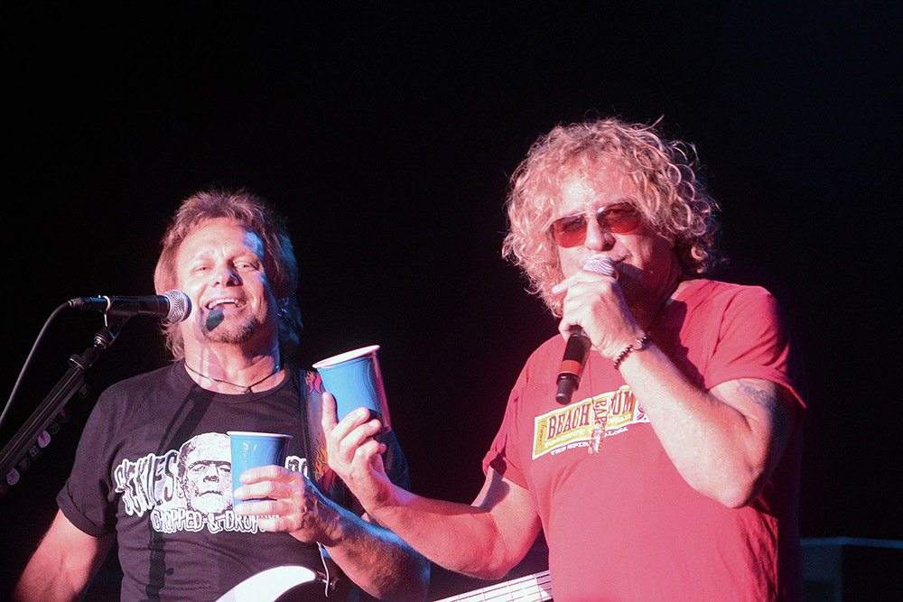 Never mind the solo red cup, when in Tahoe Sammy Hagar and Michael Anthony prefer dual blue cups. Tim Parsons / Tahoe Onstage