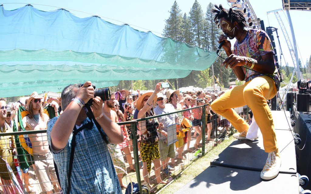 Afrolicious singer Freshislife is photographed at the High Sierra Music Festival Big Meadow in 2014. Tim Parsons / Tahoe Onstage