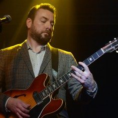 Wes Montgomery would have been proud to hear guitarist Eddie Roberts of the New Mastersounds out of Leeds, England. Tim Parsons / Tahoe Onstage