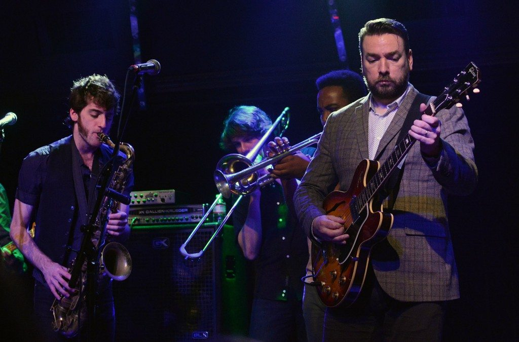 The Heard's Lucas Ellman and Bryand Smith back up Eddie Roberts in the Crystal Bay Casino Crown Room. Tim Parsons/ Tahoe Onstage