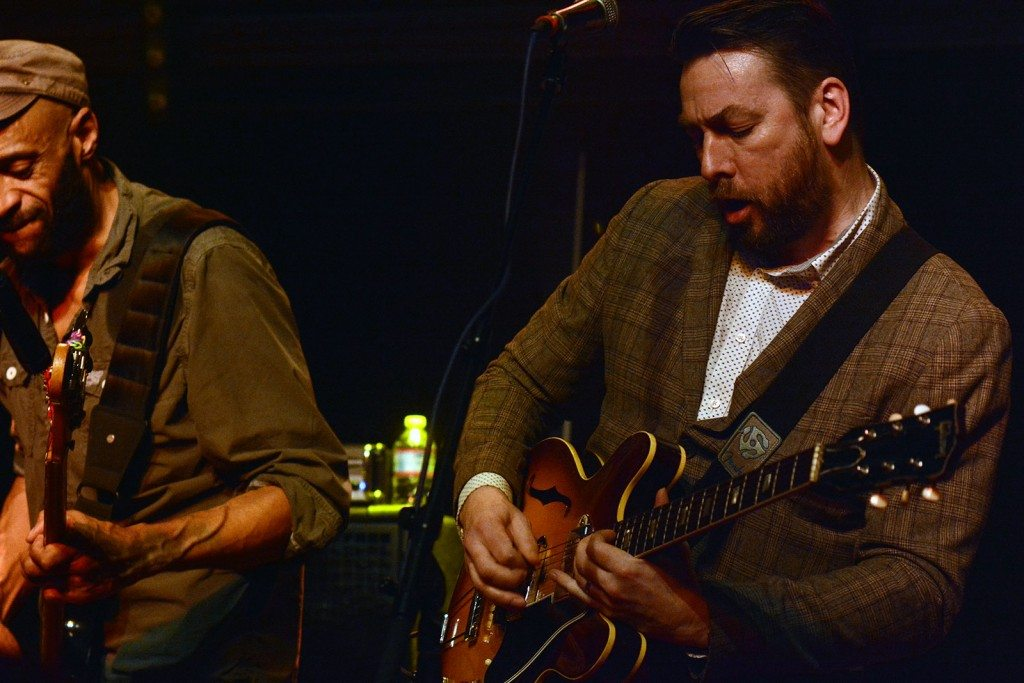 Pete Shard and Pete Roberts of the New Mastersounds during a January show in the Crystal Bay Casino. Photo by Tim Parsons / Tahoe Onsage