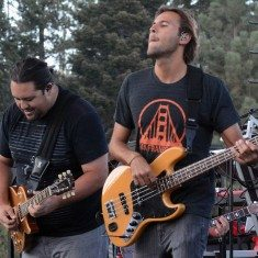 Pueschel and bass player Adam Taylor. Tim Parsons/ Tahoe Onstage