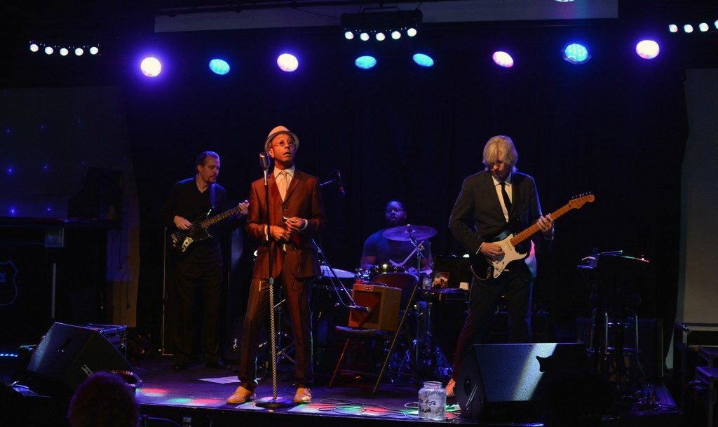From left, Heine Andersen, the Reverend Shawn Amos, Rodd Bland and Chris Roberts. Tim Parsons /Tahoe Onstage
