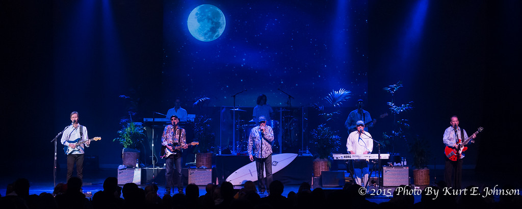 "The Beach Boys play under a ""Bleu"" moon on March 28 in the MontBleu Theatre."