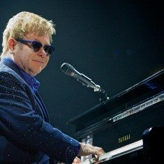 Elton John plays at Lake Tahoe on Aug. 8.