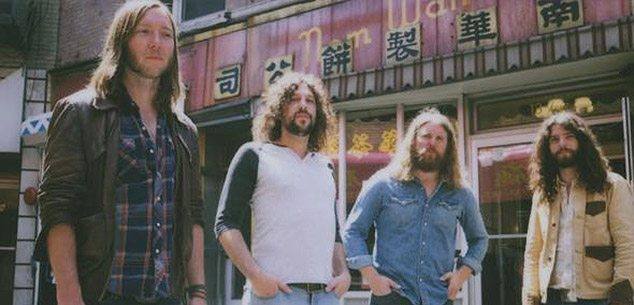 The Sheepdogs, seen here at the Wong Fook Hing Book Store, are part of the Lagunitas Tour which came to Reno April 23.