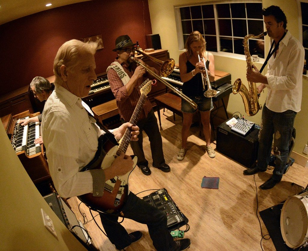 Groove Foundry works out a new song at a rehearsal in Kings Beach. Tim Parsons / Tahoe Onstage