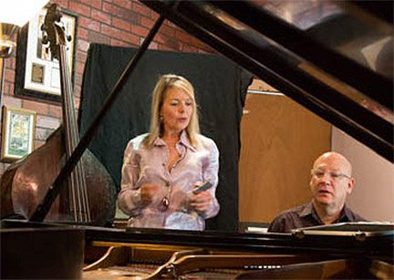 Carolyn Dolan and Peter Supersano in the studio. Provided by Carolyn Dolan