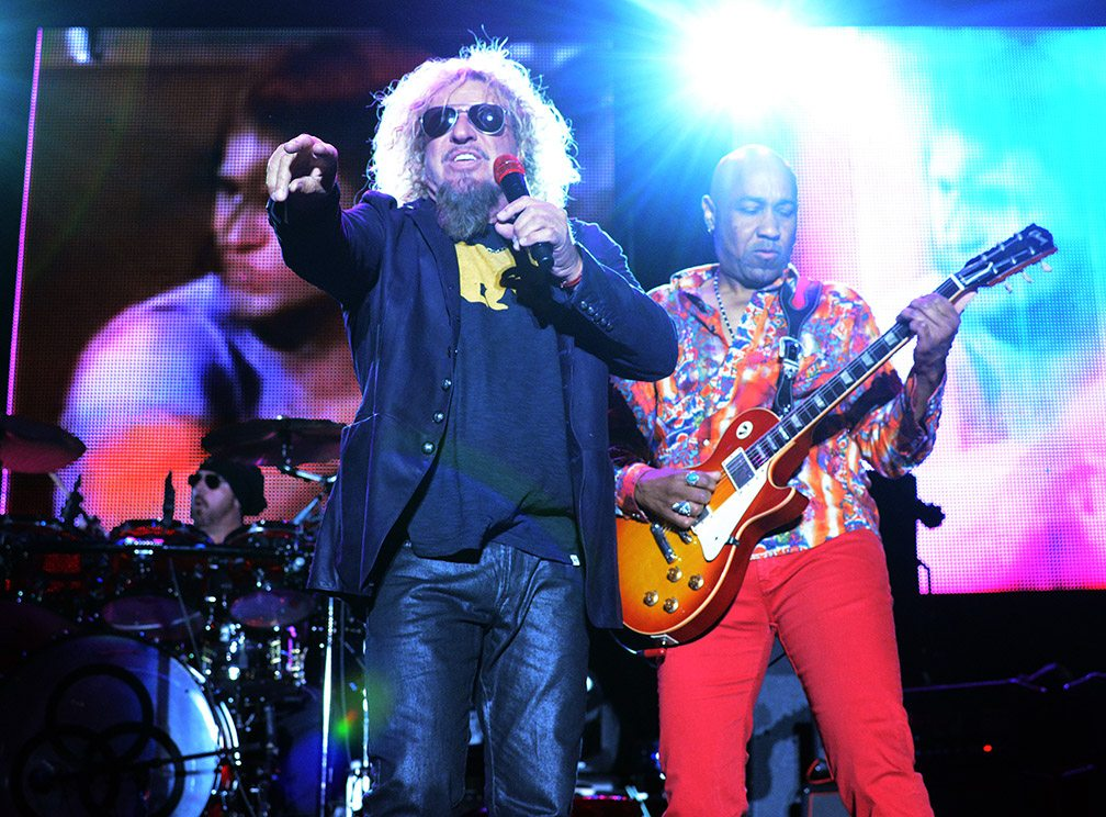 Sammy Hagar performing with the Circle at Harvey's Lake Tahoe Outdoor Arena in September 2015.