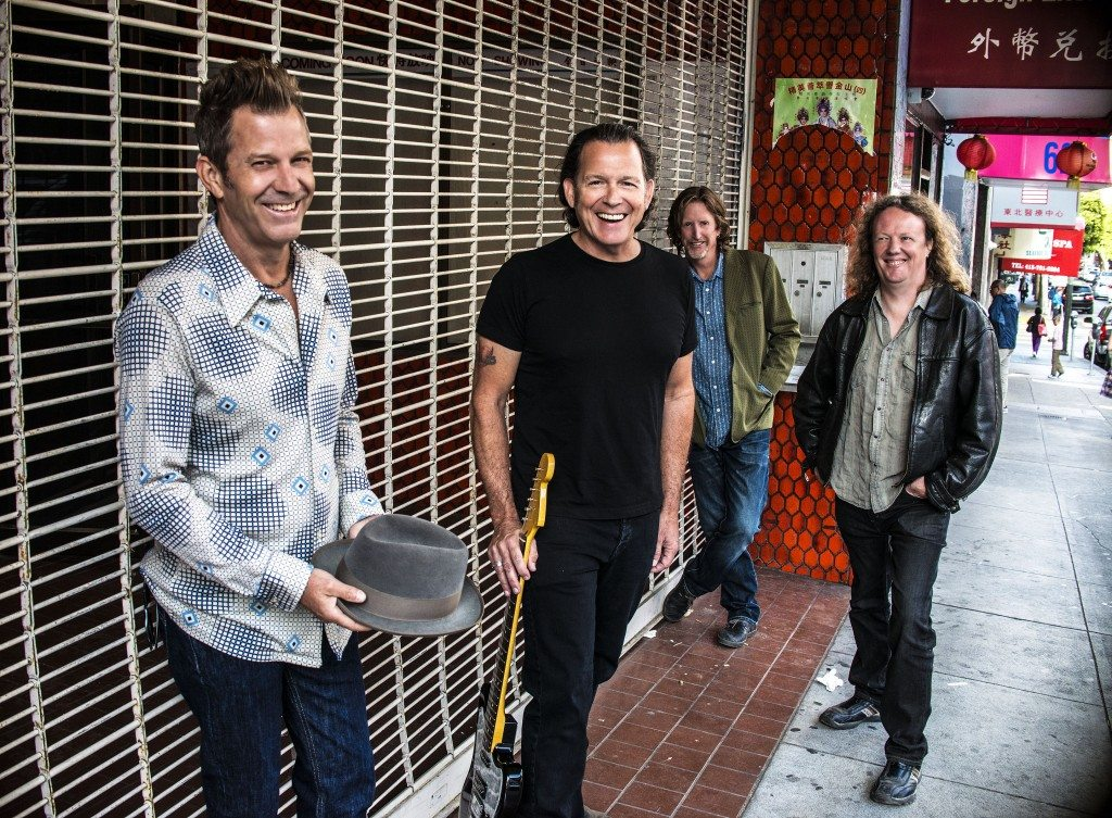 Tommy Castro and the Painkillers are, from left, Randy McDonald, Tommy Castro and new guys Bowen Brown and Michael Emerson. Photo by Victoria Smith