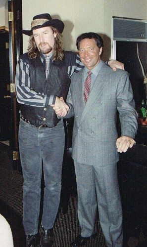 Country Dick Montana and Tom Jones meet in Las Vegas after the first Pleasure Barons tour. Photo provided by Caren Campbell-Kamanski.