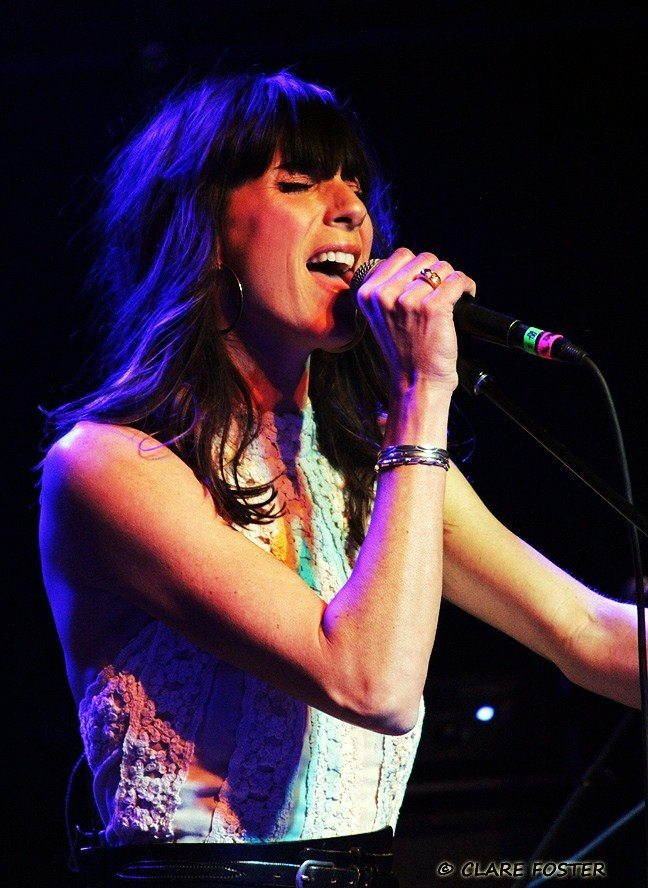 Nicki Bluhm sings during her Nov. 28, 2015, appearance in the Crystal Bay Casino Crown Room. Concert photos by Clare Foster