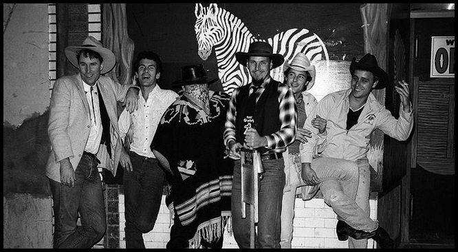 Cow punk progenitors Country Dick and the Snuggle Bunnies:  Country Dick Montana, left, Robin Jackson, Nino Del Pesco, Skid Roper, Paul Kamanski and Joey Harris.