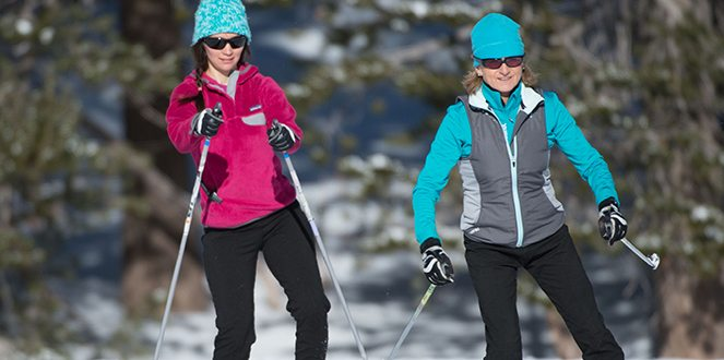 Debbi Waldear, right, has been at the Kirkwood Cross Country and Snowshoe Center for nearly 30 years.