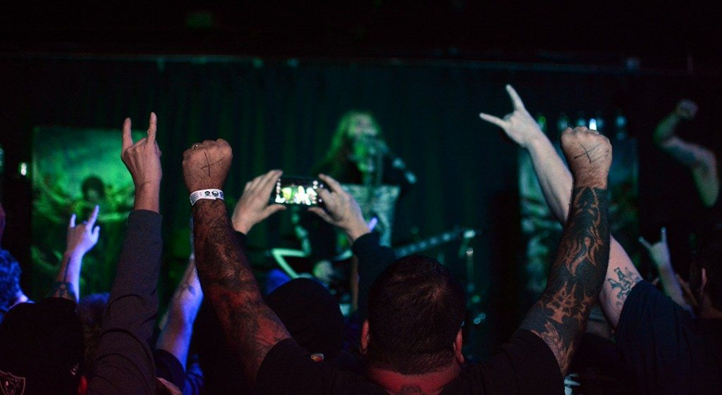 Metal fans rock out with Soulfly in the Psychedelic Ballroom and Jukejoint.