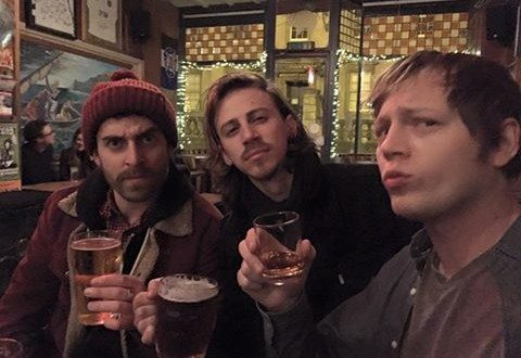 """The Stone Foxes posted this on Facebook: """"We made it! But before we play, first things first...a pint at the Pig and Fiddle in Bath with Stos Goneos of Bite The Buffalo. Cheers!"""""""