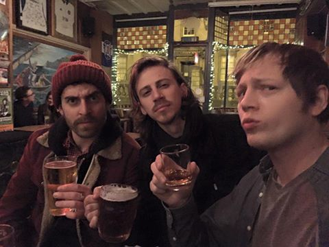 "The Stone Foxes posted this on Facebook: ""We made it! But before we play, first things first...a pint at the Pig and Fiddle in Bath with Stos Goneos of Bite The Buffalo. Cheers!"""