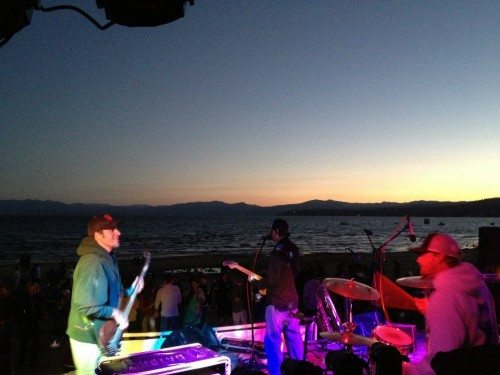 Horsemouth grooves at sunset, at a King's Beach Summer Concert Series performance in 2014.