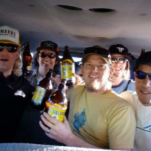 The lads of Horsemouth having a good tip on a trip to Los Barilles, Mexico in 2011.