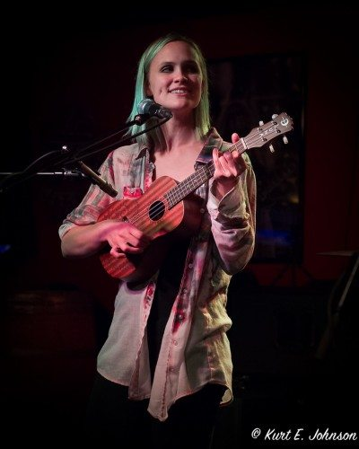 Kelly Kristofferson on her ukulele during the Appalachian Murder Bunnies set.