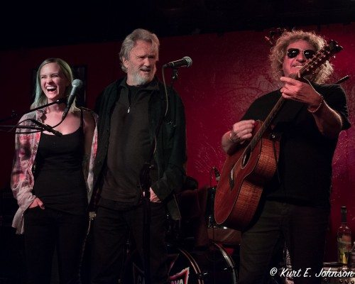 Kelly Kristofferson, Kris Kristofferson and Sammy Hagar perform at Cabo Wabo on Saturday, March 26.