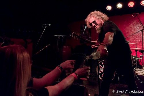 Sammy Hagar shares with the fans during a surprise appearance with son Andrew's band the Appalachian Murder Bunnies at Cabo Wabo on Saturday, March 26.