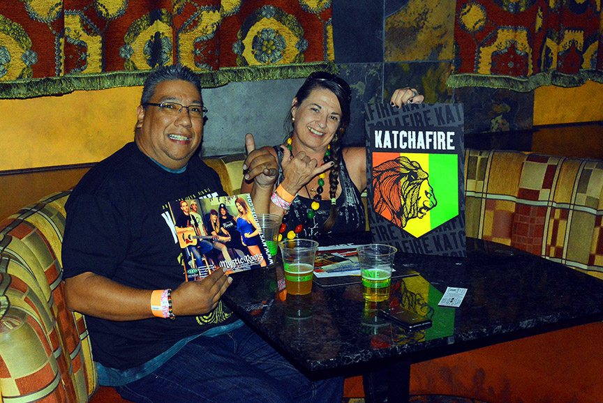 DJ Rossco Salazar and Lorrie Shaw traveled from Ogden, Utah, to catch Katchafire in the Crystal Bay Casino. It was the last show in the Crown Room with booth seats, which will be removed to increase the capacity by 150. Tahoe Onstage photos by Tim Parsons