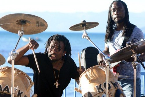 Paa Kow's second Live at Lakeview lasted until well after sunset. Tim Parsons / Tahoe Onstage