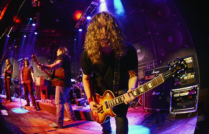 It gets hairy when Jeff Montgomery of the Greg Golden Band is onstage. Tim Parsons / Tahoe Onstage