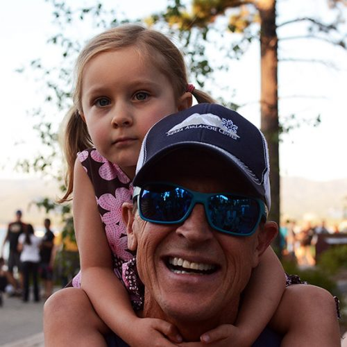 Todd Offenbacher and daughter Olive, 4.