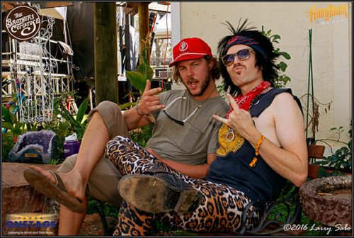 Tahoe Onstage's Garrett Bethman and Ben Morrison of Brothers Comatose in character at Hangtown.