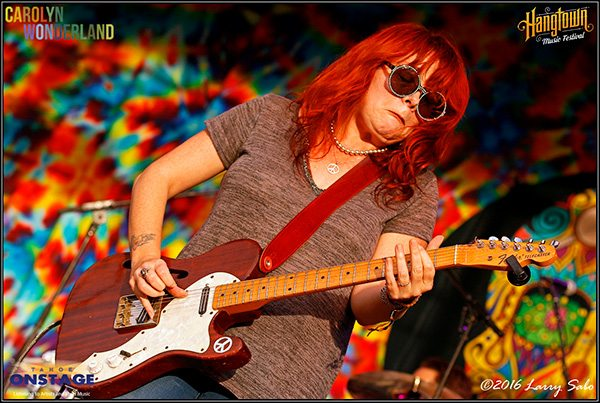 Austin's Carolyn Wonderland fiery red licks represented the blues in Hangtown.