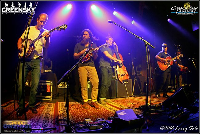 Greensky Bluegrass performs Nov. 4 before a sold-out Crystal Bay Casino Crown Room. Tahoe Onstage photos by Larry Sabo