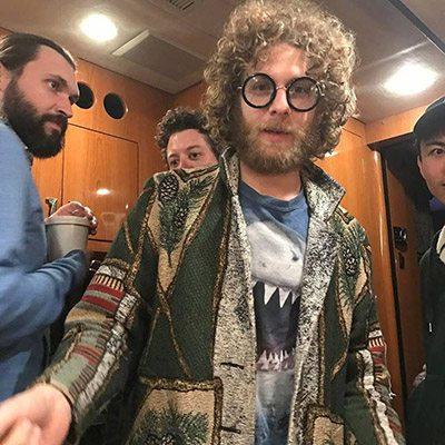 Dawes gathers in the tour bus after the Lake Tahoe show. Dawes Facebook page