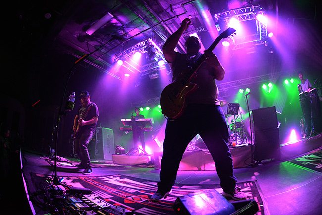 Iration lights up the Cargo Concert Hall on a colorful January night in Reno. Tahoe Onstage photo by Tim Parsons