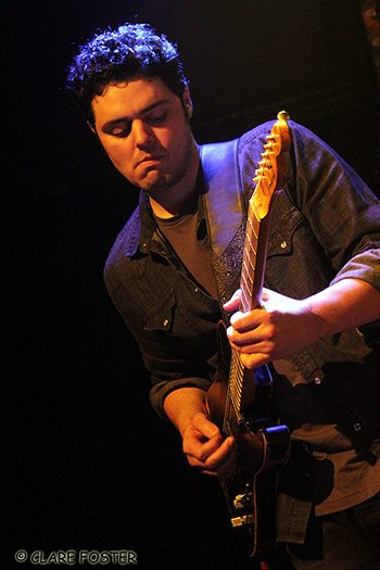 Nick Swimley is the newest member of Dead Winter Carpenters. Photo by Clare Foster