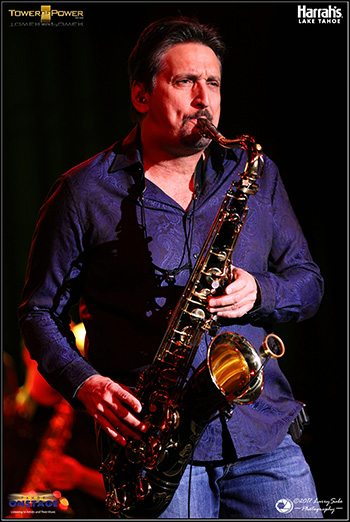 Sax man Tom Politzer of Tower of Power.