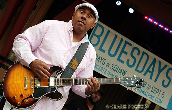 Ronnie Baker Brooks plays Bluesdays in The Village at Squaw Valley on Aug. 22. It was his second appearance at the venue. Tahoe Onstage photo by Clare Foster