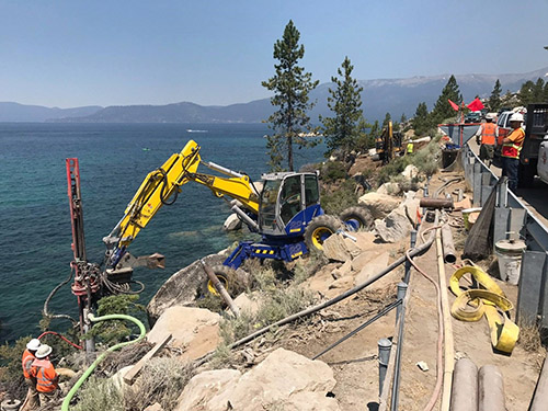 A three-mile bike path from Incline Village to Sand Harbor sould be completed by July.
