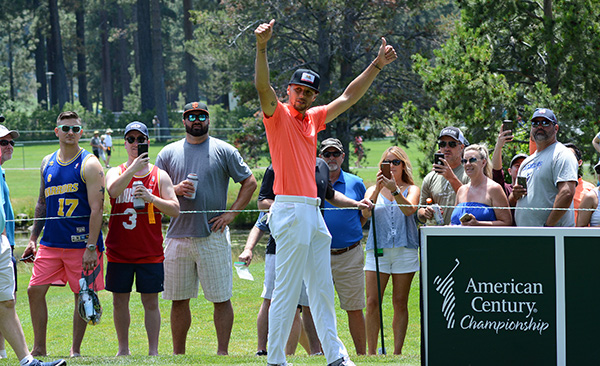 Steph Curry is a top draw at the American Century Championship at Lake Tahoe. Tim Parsons / Tahoe Onstage photos
