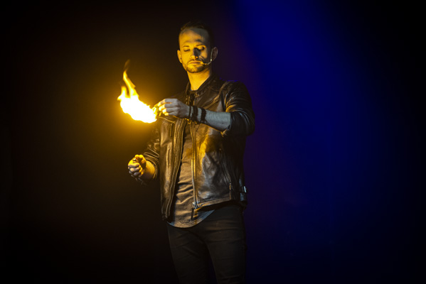 The Illusionists performed at the Eldorado Showroom in Reno, Nevada. They showcase slight of hand, card tricks, mind-reading and more.
