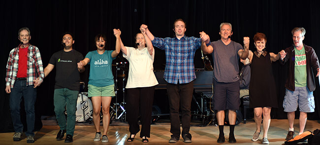 Love @ the Lake cast takes a bow.