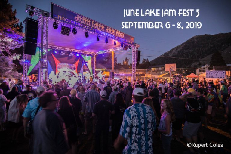 Music at the June Lake Jam fest starts Friday evening, and carries through Sunday evening