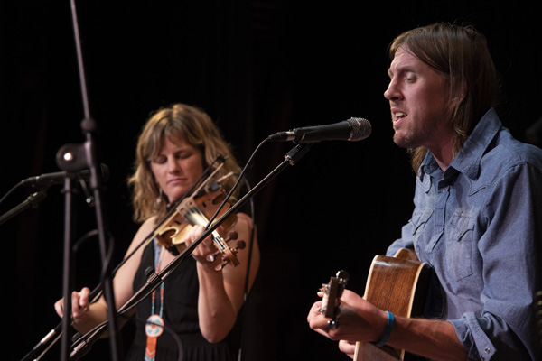 Dead Winter Carpenters founding members Jenni Charles and Jesse Dunn. Tahoe Onstage file photo