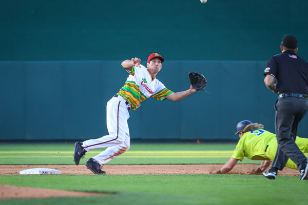 Second baseman Josh Prince and the Aces Corazones de Reno take on Sacramento on Thursday. Shaun Astor / Tahoe Onstage