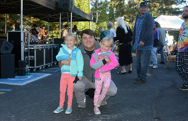 Hogs for the Cause founder Rene Louapre and his children at last year's courtyard barbecue at the Crystal Bay Casino. Tim Parsons / Tahoe Onstage