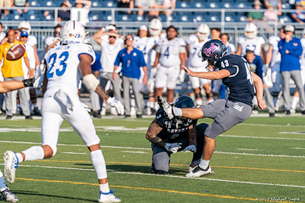 Nevada kicker Brandon Talton nailed his second game-winning field goal against San Jose State on Saturday.  Mike Smyth /Tahoe Onstage photos